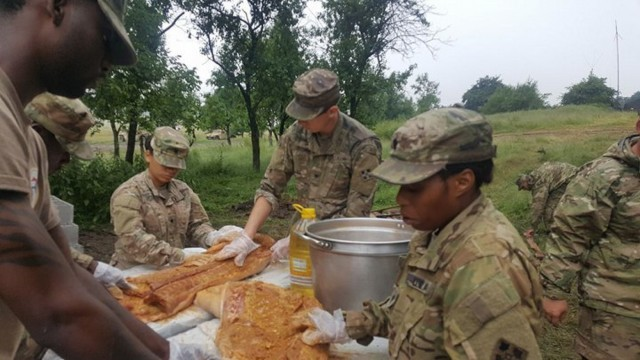 3/4 ABCT brings taste of America to Romania with 4th of July pig roast