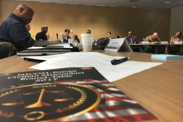 More than 60 subject matter experts provided information at the Installation Management Command-Europe 2017 Assistant Civilian Misconduct Action Authorities (ACMAA) Round-Table held at Sembach in June.