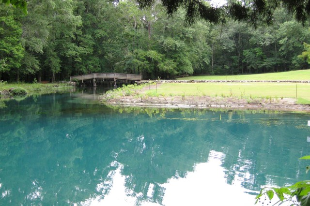 The Blue Hole Spring at Florida Caverns State Park near Marianna, Fla.