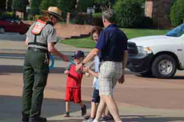 Lisa Owens, natural resource specialist, Little Rock District U.S. Army Corps of Engineers kicked off the summer by promoting water safety at the to Dickey-Stephens park home to the Arkansas Travelers of the Texas Baseball League.