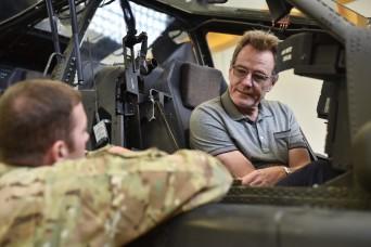 Actor Bryan Cranston makes surprise visit to USAG Ansbach
