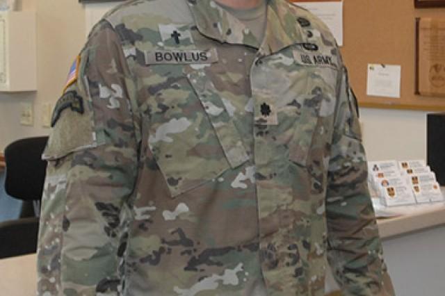 Chaplain (Lt. Col.) David Bowlus, garrison chaplain, arrived at Fort Leonard Wood July 17.