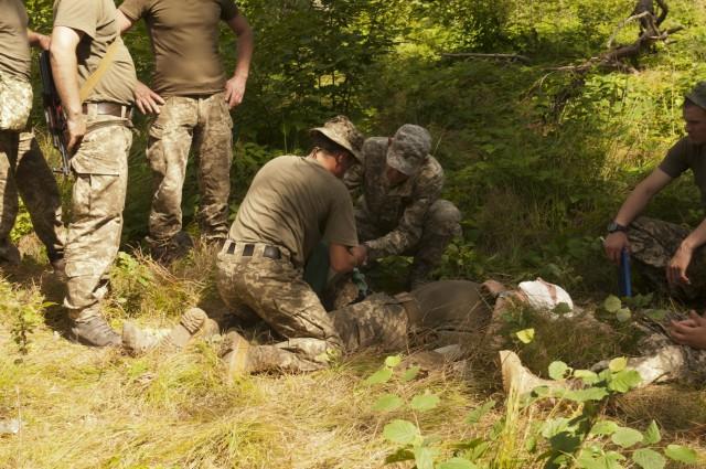 Combat first aid in Ukraine