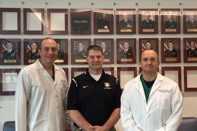 The John A. Feagin, Jr. Sports Medicine Fellowship team includes (from l-r):COL Chad Haley, MD Chief, Dept. of SurgeryKeller Army Community Hospital (Keller) continues to offer a wide range of surgical services spearheaded by the Sports Medicine Service. Keller provides surgical care in the fields of sports and general orthopaedics, foot & ankle, hand, general surgery, otolaryngology, gynecology, ophthalmology, urology, and oral-maxillary and facial surgery. Keller averages approximately 70 surgeries per month in which most encompass sports medicine injuries sustained by Cadets. Keller will continue to provide quality sports care to the West Point community and will continue to provide an excellent training environment for fellows in the future.Ken Cameron, PhD, ATC Research DirectorResearch is an important aspect of Fellowship training, and the John A. Feagin Jr. Sports Medicine Fellowship has a long history of producing high quality research that has been published in top journals. Fellows and staff members have earned a number of national research awards for individual and program level recognition. Currently, the staff and faculty have secured over $10 million in external research support from the NIH, OREF, DoD and other funding sources. Fellows will have the opportunity to work closely with the Orthopaedic Research Department to develop, conduct, and disseminate original research.LTC Matt Posner, MD Fellowship DirectorThe Fellowship is strong and continues to grow. The fellows serve as team physicians for 28 NCAA Division 1 athletic teams. At Keller, the surgical case load is heavy in arthroscopy, focusing on knee and shoulder injuries. Now with 3 months at HSS, fellows have ample time with shoulder arthroplasty and hip arthroscopy. Dedicated research time is given to the fellows each week. Our graduates continue to fill the leadership roles in academic medicine and orthopaedic specialty societies.