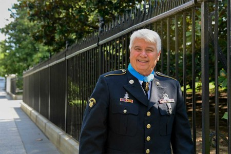 President Donald J. Trump hosts the Medal of Honor ceremony for former Army Spc. 5 James C. McCloughan at the White House in Washington, D.C., July 31, 2017. McCloughan was awarded the Medal of Honor for distinguished actions as a combat medic assigned to Company C, 3rd Battalion, 21st Infantry Regiment, 196th Infantry Brigade, Americal Division, during the Vietnam War near Don Que, Vietnam, from May 13-15, 1969.