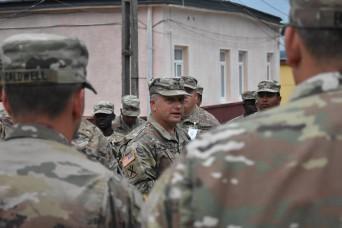 South Carolina National Guard leadership visits Soldiers in Romania