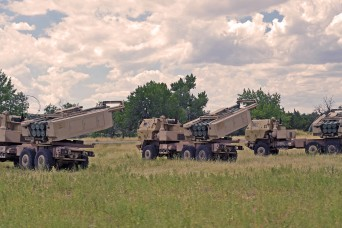 Guard Soldiers from around country trade old jobs for rocket launchers in Wyoming