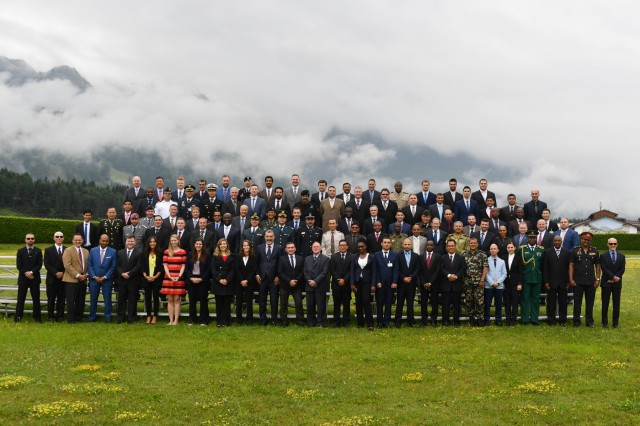 Eighty-one participants from 57 countries graduate from the Program on Terrorism and Security Studies Aug. 3 at the George C. Marshall European Center for Security Studies in Garmisch-Partenkirchen, Germany. (Marshall Center photo by Karl-Heinz Wedhorn)