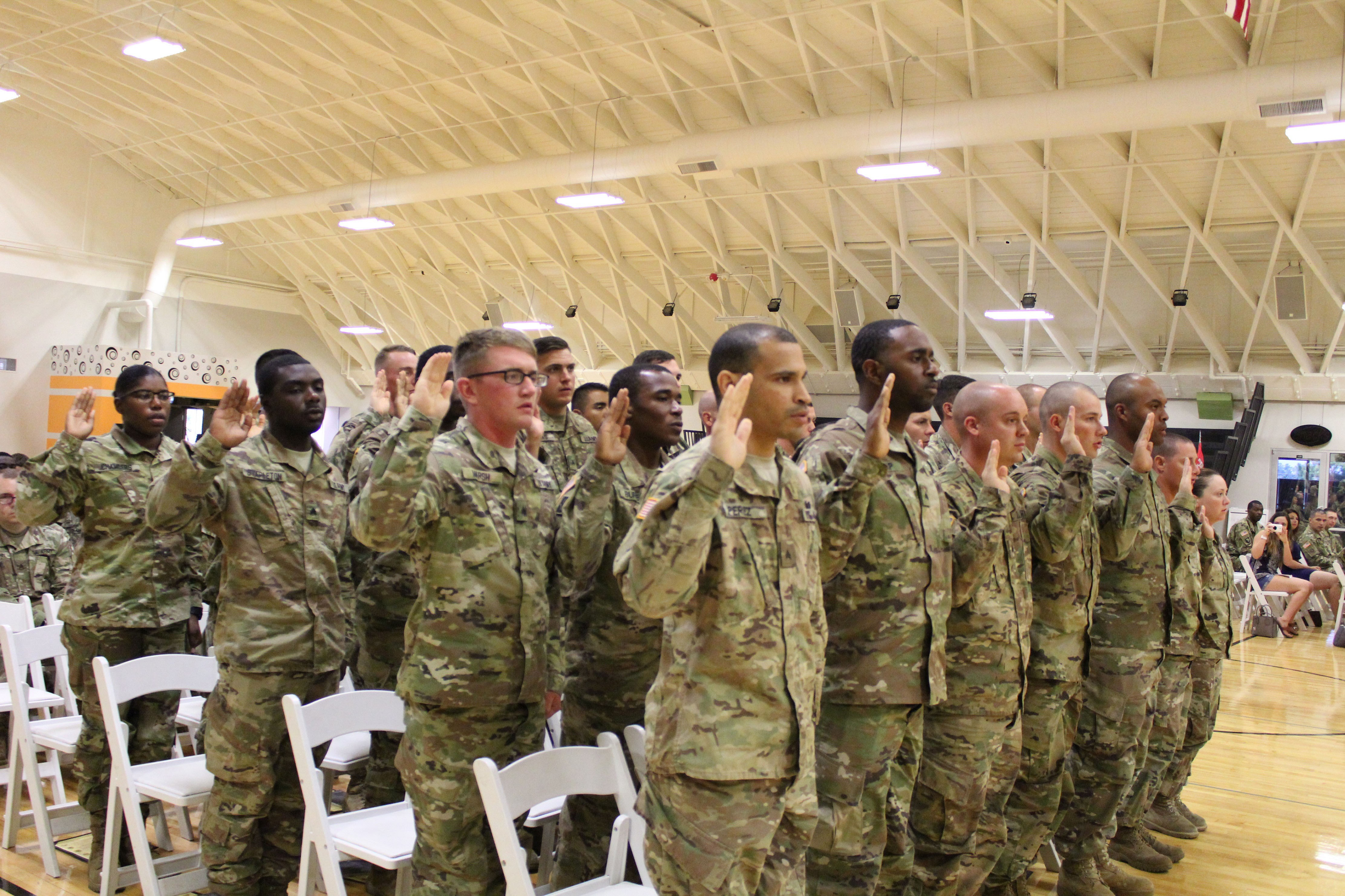 19th engineer battalion inducts 28 newly promoted
