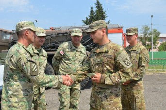 U.S. Army Soldier translates in his native country