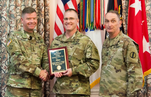 MAJ Nagel Wins TRADOC IOY 2016 Army Reserve Award