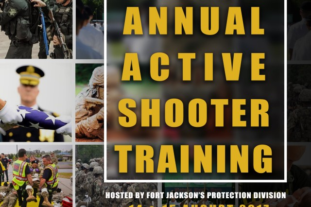 Fort Jackson is holding a regional active shooter training seminar Monday and Tuesday.