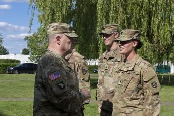 Top US Army Generals visit Polish Air Base