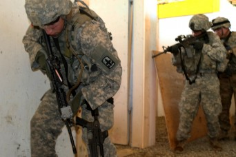 'Overhead's clear!' National Guard Soldiers train for urban warfare