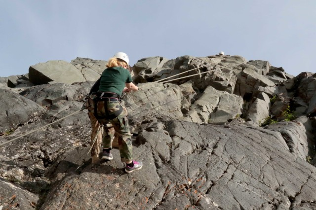 Eielson JROTC cadets learn basic mountaineering at Black Rapids Training Site