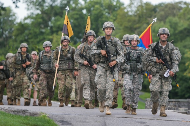 Class of 2018 Cadet Simone Askew was named First Captain of the USMA Corps of Cadets on Aug. 1. She lead the Class of 2021 new cadets during March Back to West Point on Aug. 14.