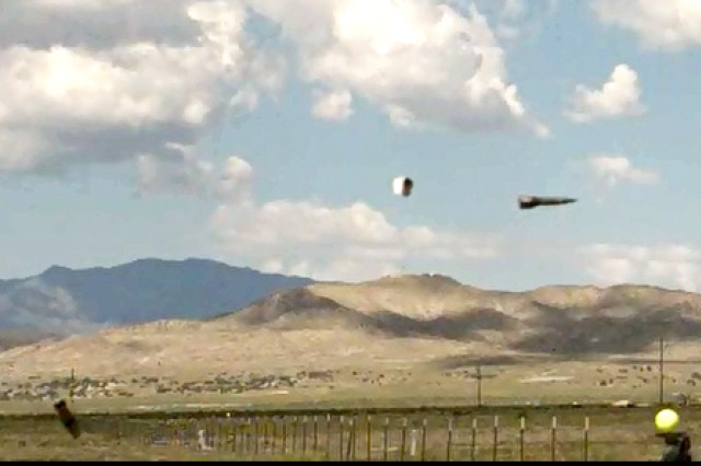 Railgun projectiles and components being tested at massive Dugway Proving Ground, Utah, to obtain performance data. Photo by General Atomics.