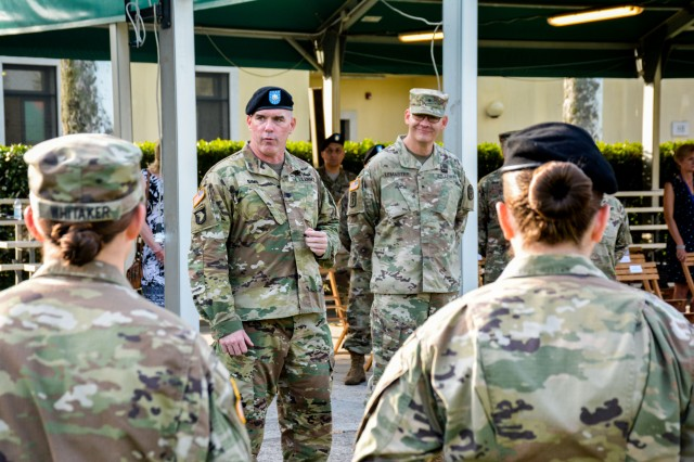 Public Health Activity-Italy was recognized as an Army Occupational Health Star Site on August 2 at U.S. Army Garrison Vicenza. Brig. Gen. Dennis LeMaster, Regional Health Command Europe Commanding General, presented the unit with the Safety and Occupational Health Star Flag and certificate.