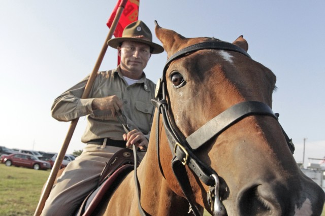 Staff Sgt. David Palmer and his steed.