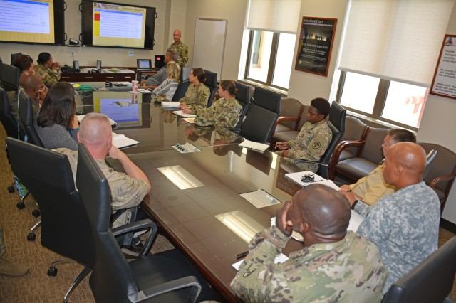 Members of Tripler Army Medical Center's Warrior Transition Battalion and U.S. Army Garrison-Hawaii staff meet on Aug. 18, 2017, to discuss the first Pacific Warrior Game Trials to be held Nov. 5-11, 2017, at Schofield Barracks, Hawaii.