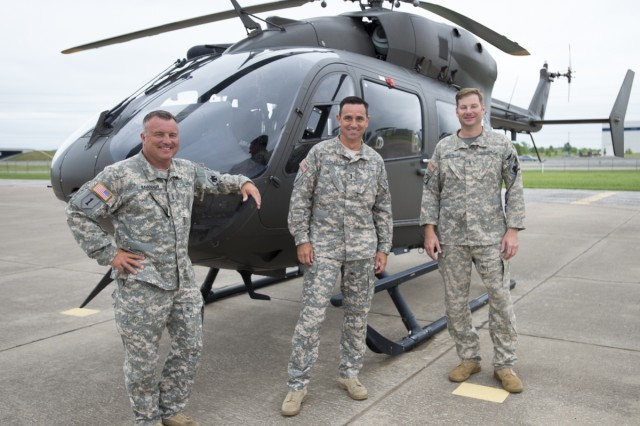 Three Oklahoma Army National Guard helicopter pilots drill together in the same unit in Tulsa, Oklahoma, making them teammates in the Guard, but because of their civilian occupation, they are competitors in the sky. Chief Warrant Officer 3 Jon Welsh, pilot for KFOR News Channel 4 in Oklahoma city, Chief Warrant Officer 4 Chase Rutledge, pilot for KOCO News Channel 5 and Chief Warrant Officer 4 Will Kavanagh, pilot for KOTV News on 6 in Tulsa, Oklahoma, have served together in the OKARNG for nearly a decade, but when these three battle buddies take off their uniform, they compete against each other as civilians in the same media market.