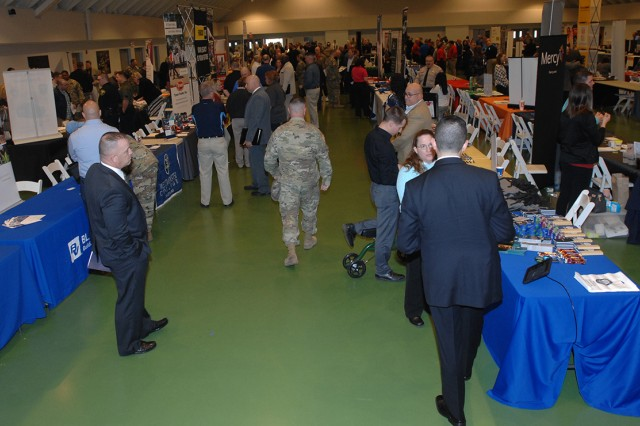 Hundreds of service members and spouses typically attend SFL — TAP Hiring Fairs, with numerous participants receiving job offers on the spot. The next hiring fair is scheduled from 11 a.m. to 2 p.m. Aug. 31 at Nutter Field House.