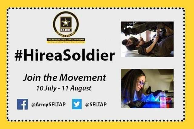 SFL-TAP hosted a Hire a Soldier Campaign to encourage employers to hire transitioning Soldiers.