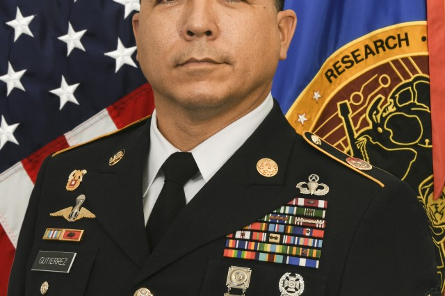 Command Sgt. Maj. Frank Gutierrez assumed responsibility as the senior enlisted advisor of the U.S. Army Research, Development and Engineering Command at Aberdeen Proving Ground, Maryland, 25 August, 2017.