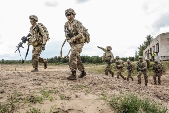1-66 Armor riflemen compete in Lithuanian Best Infantry Squad contest