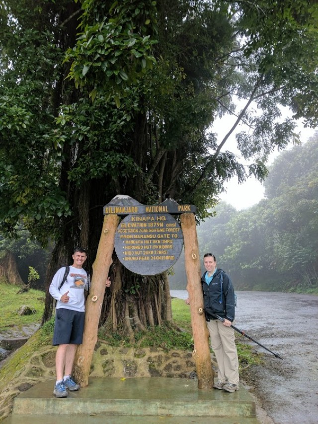 Starting at Marangu Gate