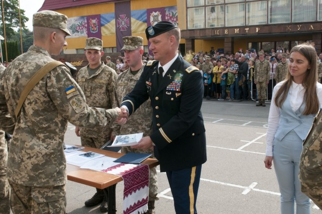 Ukraine boosts officer corps with new graduates