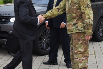 Acting SecArmy visits Strong Europe
