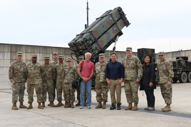 Richard Engel, NBC New's chief foreign correspondent, and his team visited Battery D, 6-52 ADA Battalion, tactical site Aug. 30 in Osan Air Base, South Korea. The 35th ADA Brigade's mission is to provide air and missile defense operations to defend critical assets and enable United States Forces Korea combat power generation capabiliites.(U.S. Army Photos by Monik M. A. Phan)