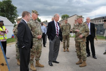 Acting Army Secretary, Senator, visit 405th AFSB