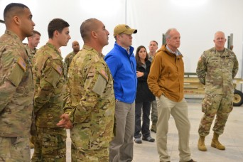 Acting Secretary of the Army McCarthy visits US Soldiers in Poland