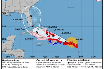 Army National Guard troops prep for action as Hurricane Irma slams Caribbean, threatens Florida