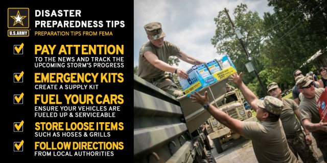 Army offers simple tips for Soldiers, civilians to prepare for Hurricane Irma