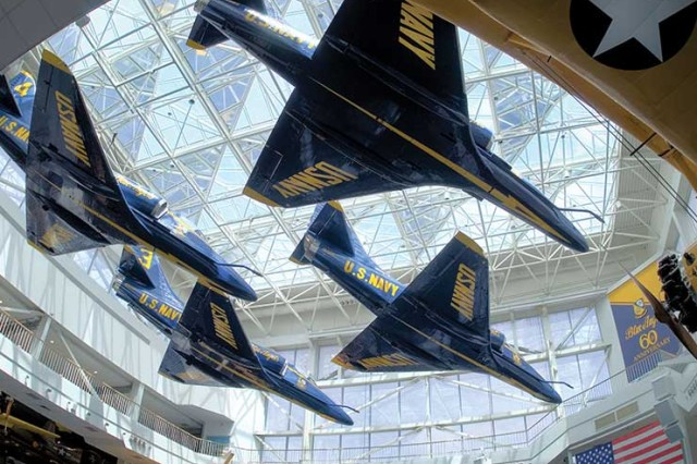 A display at the National Naval Aviation Museum in Pensacola, Florida.