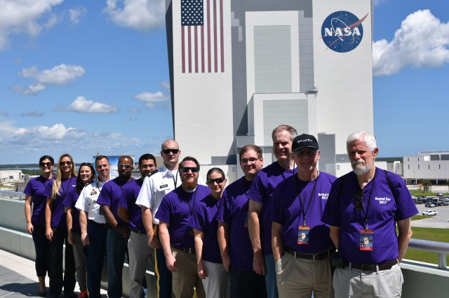 Members of the U.S. Army Space and Missile Defense Command/Army Forces Strategic Command Technical Center's Kestrel Eye team learned more about what happens at the Kennedy Space Center as they prepare for Kestrel Eye's deployment from the International Space Station in October.