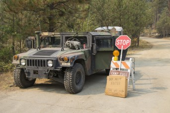 Montana National Guard Soldiers assist with Lolo Peak Fire