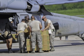 Joint effort moves personnel, cargo to Virgin Island storm victims