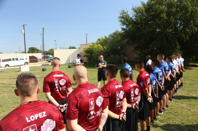 SEAC Troxell motivates BOSS Soldiers on training for the battlefield