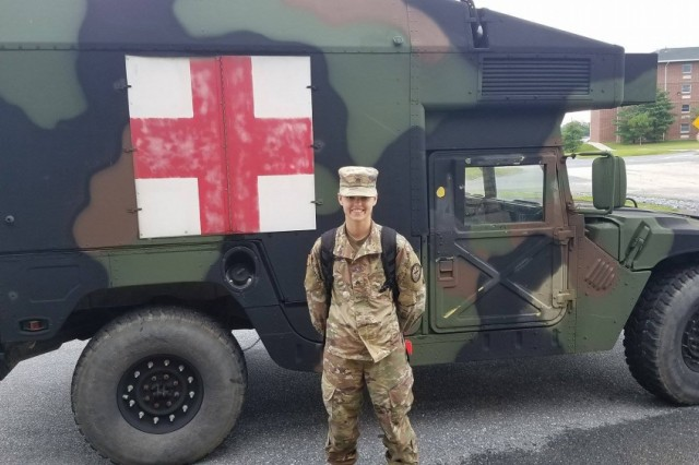 Army Sgt. Brittany Wildman is transitioning from being a cyber soldier to a cavalry scout after graduating from the 19D military occupational specialty M3 Bradley/Humvee course at Fort Indiantown Gap, Pa., July 30, 2017