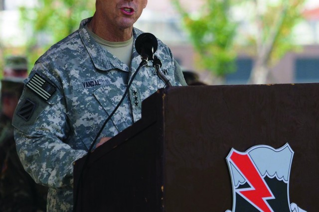 Eighth U.S. Army commanding general Lt. Gen Thomas S. Vandal was the featured speaker during the opening ceremony of the Seventh Annual 9/11 Memorial Rucksack March on Sept. 9 at Camp Humphreys.