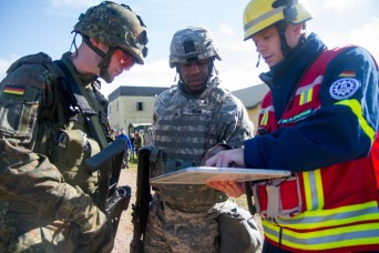 USAR civil affairs and German agencies build relationship through disaster relief training
