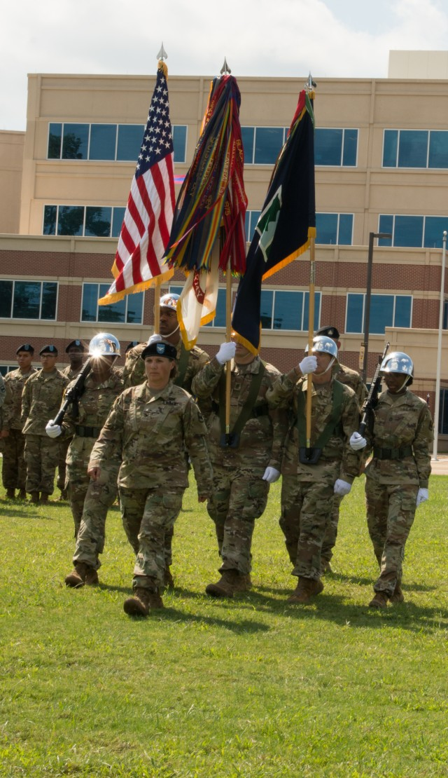 Col. Kuilan Leads 80th Color Guard
