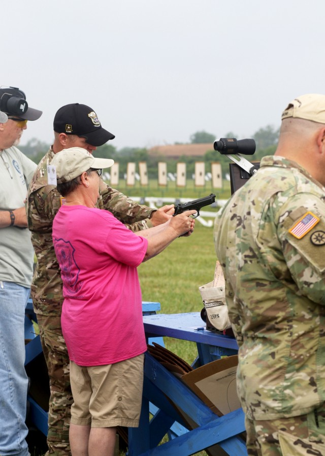 Marksmanhip champion instructs civilians at Small Arms Firing School