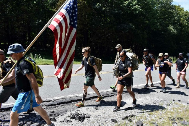 In an effort to raise awareness of the suicide epidemic in our veteran ranks, eight Soldiers, former Soldiers and supporters of the military ruck marched across Massachusetts from the western border and finished in Plymouth.