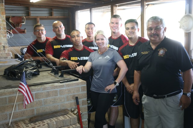 Coach Brandi Binkley and team Able at completion of community service project