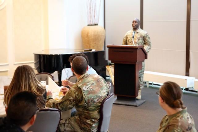 Prayer, tacos and EMT: 2nd Theater Signal Brigade hosts prayer luncheon